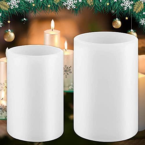 2 stampi per candele fai da te in silicone per decorazioni a colonna, per la produzione di sapone e campioni di fiori