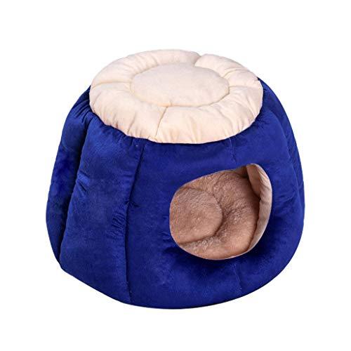 Cama redonda para gatos – Bonita y cómoda cama de felpa, calmante, calmante, para gatos de interior