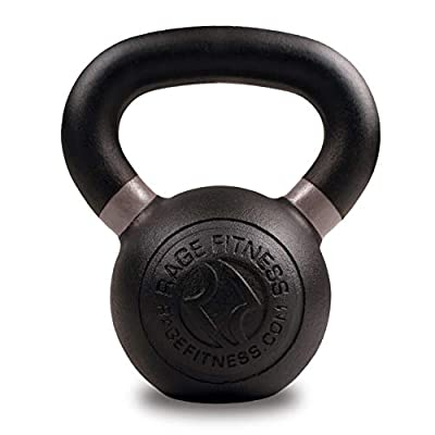 Rage Fitness Powder Coated Kettlebells for strength traininig, conditioning and cross training, Lb and KG Markings, 48 KG by Rage Fitness