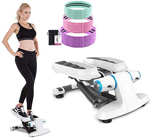 Mini Stepper Oefenmachine met Weerstandsband Trap Twister Stepper Aerobic Workout Stepper Cardio Oefeningstrainer dsfhsfd(Upgrade)