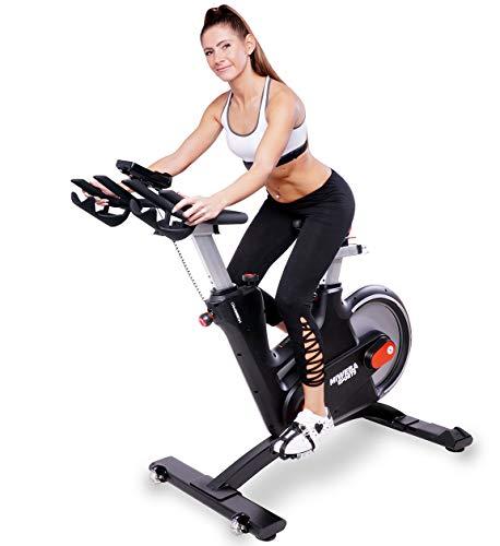 Miweba Sports MS600 Pro Ergometro per interni - Cyclette da casa - Controllo tramite app, freno magnetico con cinghia
