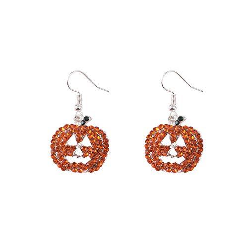 Pendientes de moda Wish Aliexpress Pendientes de calabaza de Halloween personalizados Pendientes de diamantes de imitación exagerados