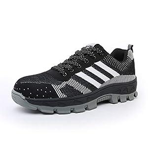 41FaiRZ FkL. SS300  - Yeeper Zapatillas de Seguridad Deportivos con Puntera de Acero/Zapatos de Trabajo Transpirable Resistente a Las Perforaciones para Unisex