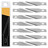 20PCS Exacto Knife Blades, SK5 Carbon Steel #11 Refill Exacto Art Blades Cutting Tool with Storage Case for Craft, Hobby, Scrapbooking, Stencil