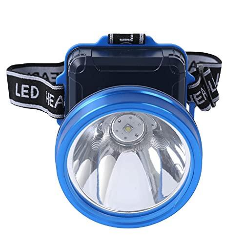 QQWJSH Linterna Frontal LED Iluminación Exterior Recargable Lámpara de Pesca Nocturna Lámpara de minería montada en la Cabeza Reflector Camping Trekking Aventura Proyector de Largo Alcance