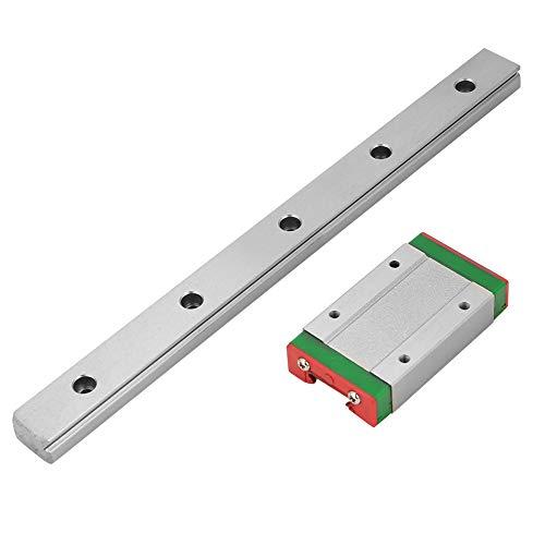 Akozon LML15H Guía de deslizamiento lineal Longitud de 200 mm con bloque deslizante de extensión