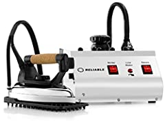 ✓PROFESSIONAL IRON - 2100IR iron with 6' steam hose is lightweight, 3.9 lb, comfortable cork handle, and uses the same high standard parts that has made it #1 choice iron of professionals ✓4 SAFETY SYSTEM - The 3000IS professional iron has 4 safety s...