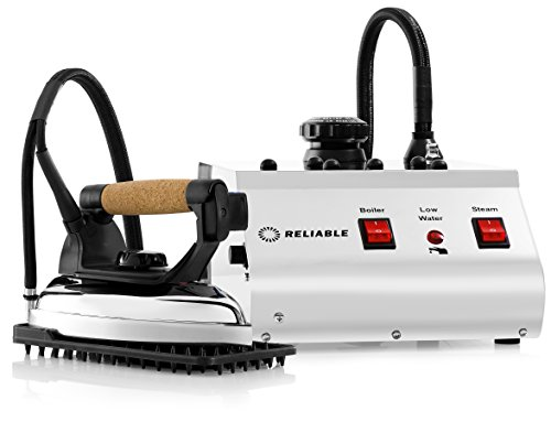 Reliable 3000IS Steam Ironing System - 1800W (Iron and Boiler) Professional Clothing Iron with Aluminum Soleplate 2.5 BAR Pressure 1.4 L Stainless Steel Tank, 12 Gauge Heavy Duty Wiring, Made In Italy