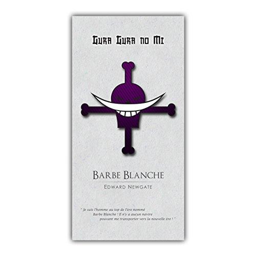 One piece Tableau Poster Décoration Manga Barbe Blanche Luffy Pirates ARIMAJE (60 x 120 cm, Plaque Souple PVC 3 mm)