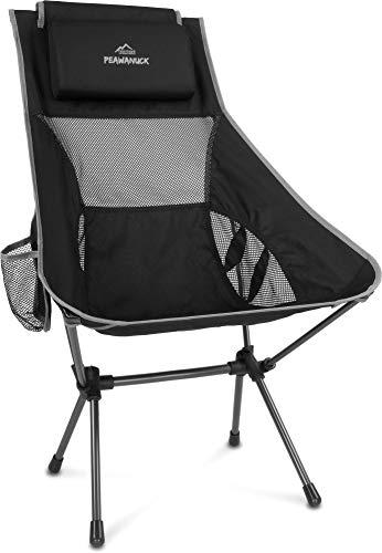 normani Outdoor Sports Ultraleicht Tragbar Klappbar Campingstuhl Klappstuhl Faltbar Outdoor-Stuhl mit Tragetasche Angelstuhl Strandstuhl aus Aluminium bis 150 kg belastbar Farbe Grau