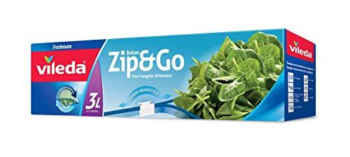 Vileda One Zip, Gefrierbeutel, Wieder verschließbar, mit hermetisch schließendem Reißverschluss