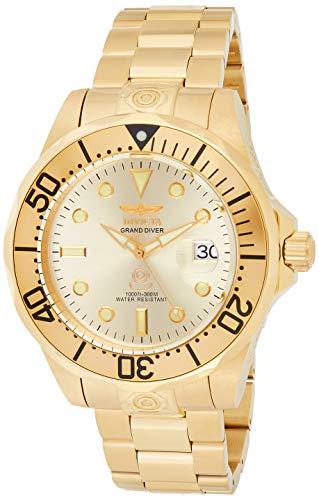Invicta Herren Analog Automatik Uhr mit Edelstahl Armband 3051