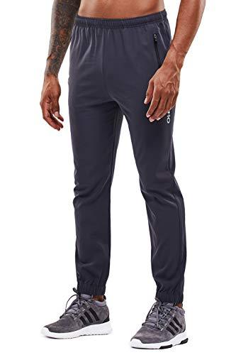 YAWHO Herren Jogginghose Trainingshose Sporthose Sweathose Fitnesshose Freizeithose Lang mit Reissverschluss Taschen und Kordelzug (Grey (1601), S)