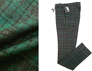 [インコテックス] 国内正規品 SLIM fit スリム フィット 1NT035 ウール チェック柄 スラックス パンツ メンズ