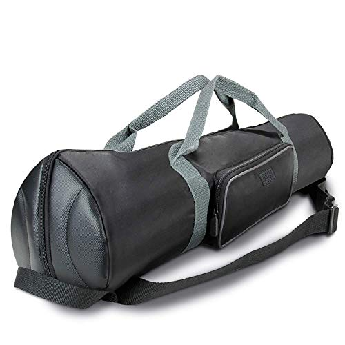 USA Gear Padded Tripod Case Bag - Holds Tripods from 21 to 35 inches - Adjustable Size Extension, Storage Pocket and Shoulder Strap for Professional Camera Accessories and Photo Carrying Needs