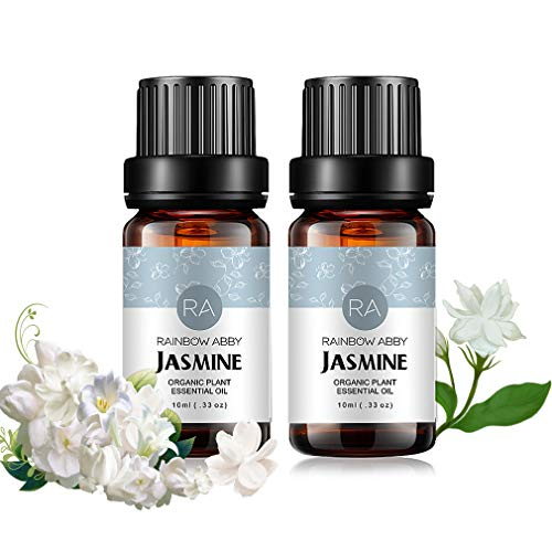Jasmin 100% NaturReines ÄTherische Öl Aromatherapie Jasminöl Duft Hautpflege, 2x10mL