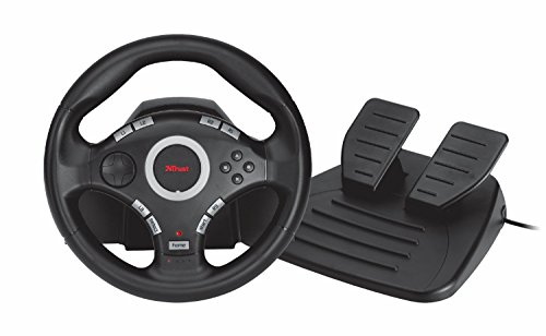 Trust Gaming GXT 27 Force Vibration Steering Wheel with Feedback for PC and Playstation 3 (PS3)