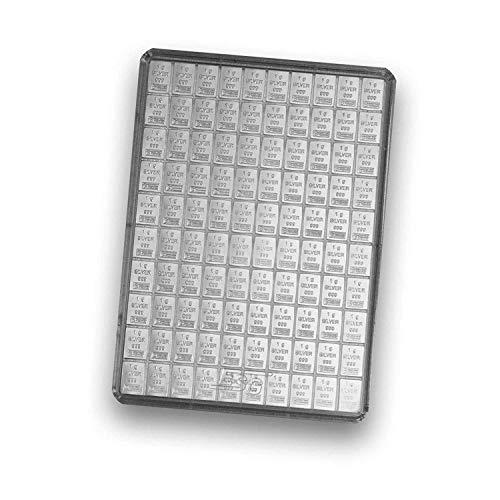 Silberbarren 100x 1g von Valcambi