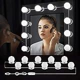 SOAIY Kit Luci per Specchio Stile Hollywood Lampada da Specchio Lampada da Bagno con 10 La...