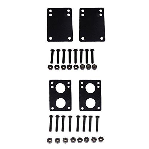 Hellery Almohadillas para Elevadores de Monopatín Tornillos de Hardware Accesorios para Elevadores de Goma Almohadilla de 3 Mm + 6 Mm