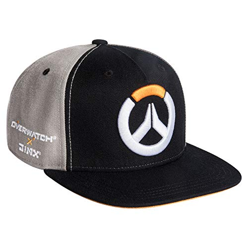JINX x Overwatch Collab Snapback Baseball Hat Black/Grey