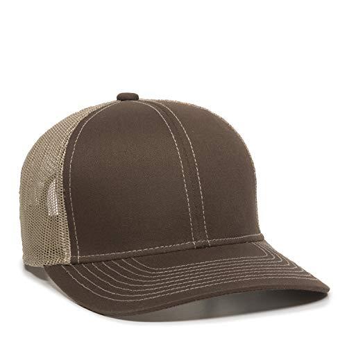 Outdoor Cap Structured mesh Back Trucker Cap, Brown/Tan, One Size