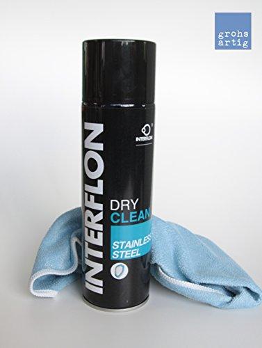grohsartig® | Interflon Reinigungs- und Pflegemittel für Edelstahl inkl. Reinigungstuch