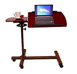 Sharper Image Best over Bed Table, Sturdy Adjustable Tilt Table is a best floor stand for reading heavy books in bed.