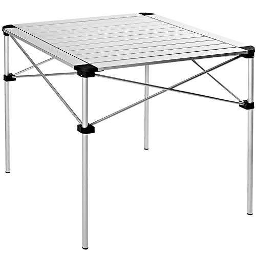KingCamp キャンプ テーブル 折りたたみ bbq アウトドア 長テーブル 107×70 4~6人用 70×70 4人用 ロールテーブル アルミ 耐荷重約80kg コンパクト 収納袋付き 持ち運び便利