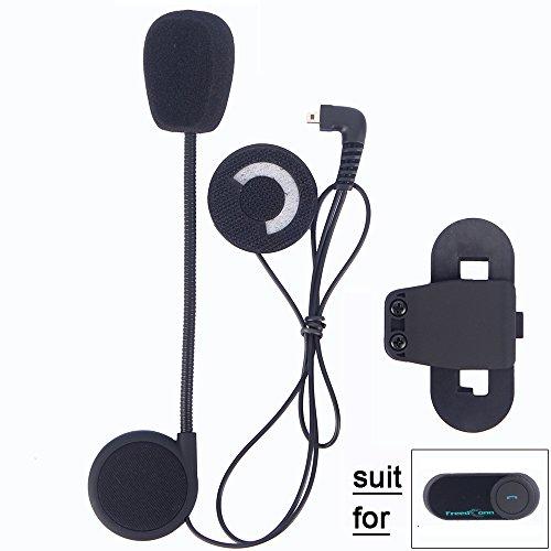 FreedConn Moto Motocicleta Casco Bluetooth BT Intercom Interfono Intercomunicador Auriculares Headset Accesorio Clip para TCOM-SC FDCVB (Nuevo,Mejorar,Cable Duro,Durable,Original,Negro,1Pieza)