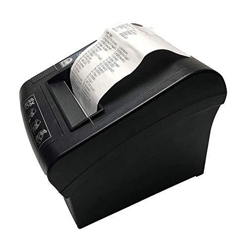 Impresora térmica de recibos de 80 mm, NETUM WiFi POS Impresora con cortador automático, puerto...