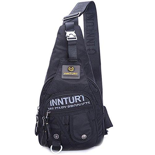 Innturt Nylon Sling Chest Bag Backpack Color Black