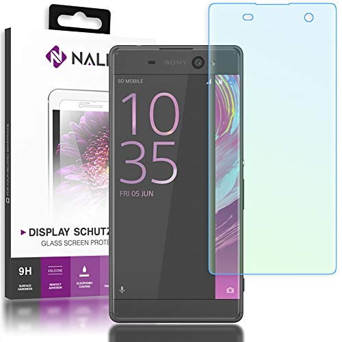 NALIA Schutzglas kompatibel mit Sony Xperia XA, 3D Full-Cover Displayschutz Handy-Folie, 9H Härte Glas-Schutzfolie Bildschirm-Abdeckung, Schutz-Film HD Screen Protector Tempered Glass - Transparent