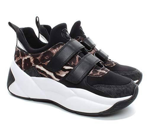 Sneakers Mujeres MICHAEL KORS 43F9KEFS1H Keeley Cuero Tejido Negro