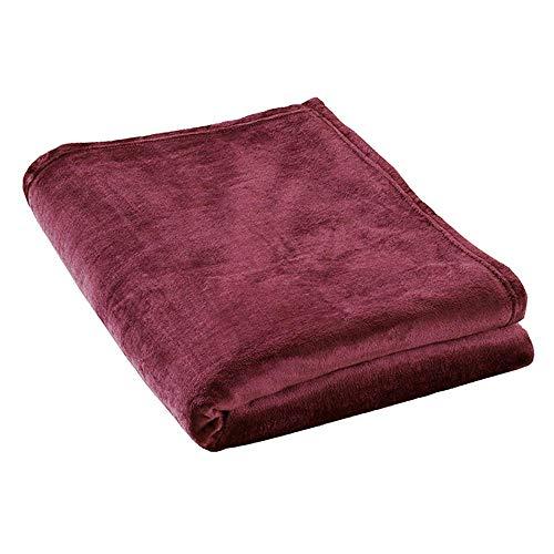 ESTELLA Kuscheldecke Polarflausch | Rot | Flauschige Microfaser-Flanelldecke perfekt für die Couch | 150x200 cm | direkt vom Hersteller