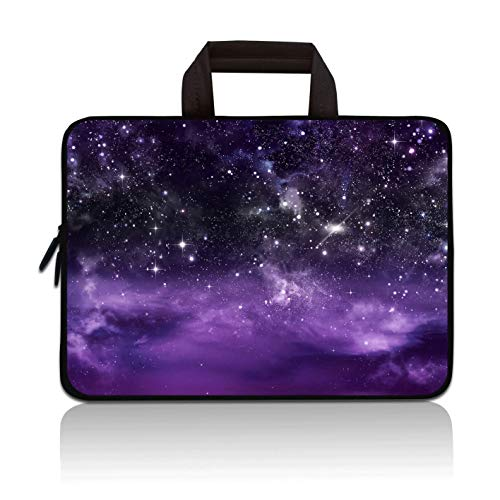 11' 11.6' 12' 12.1' 12.5 Inch Laptop Carrying Bag Case Notebook Ultrabook Bag Tablet Cover Neoprene Sleeve Briefcase Bag Compatible with Samsung Google Acer HP DELL Asus(Purple Galaxy)