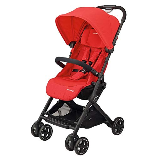 Bébé Confort Lara Passeggino Compatto e Leggero, Reclinabile e Richiudibile in 3 Secondi, Nomad Red