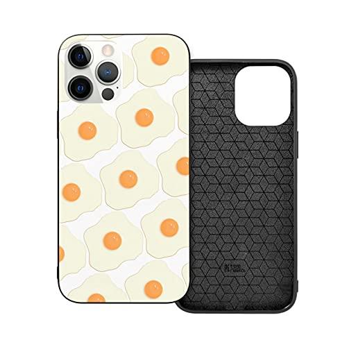 ZHJH - Custodia per iPhone 12/Pro/Mini/Pro Max, motivo floreale con uova fritte, antipolvere e anti-macchia, per uova di ragazzo e ragazza
