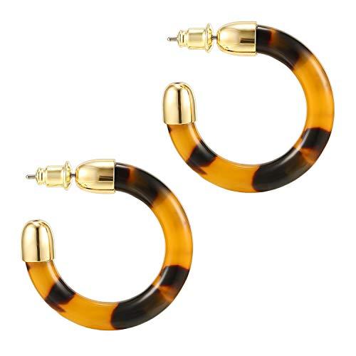PAVOI 14K Gold Plated Acrylic Earrings for Women - Statement Resin Earrings | Summer...