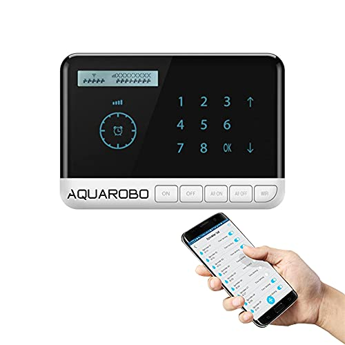 AQUAROBO Automatic Irrigation Controllers,Watering Timers,Smart Sprinkler Controller 8-Zone WiFi Timing Irrigation System with 8 Valves, Suitable for Amazon Echo, Dot, Tap or Alexa
