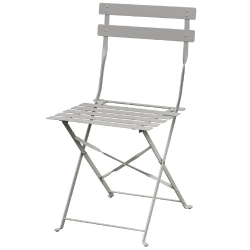 Bolero gh551 stijl stalen stoelen, grijs (2 stuks)