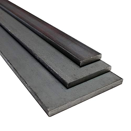 Stahl ST37, S235 JR Flachstahl, Oberfläche blank, roh, gewalzt (50 x 5 mm, 1000 mm)