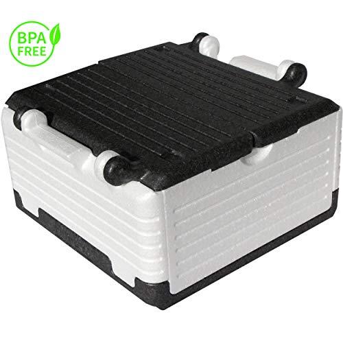 Lisk. Flip Box Ice Bear Classic 23l - isolierte & Faltbare Thermobox aus hochwertigem EPP für Einkäufe & Ausflüge (weiß)