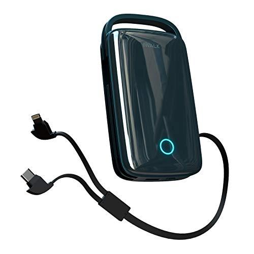 iWALK Powerbank 20000mAh, USB C Externer Akku mit 18W, Tragbares Ladegerät mit Integrierte USB-C Kabel Kompatibel für iPhone 12/12 Mini/12 Pro Max/11/Xs/XR/X/8,Samsung Galaxy S20,S10,S9,S8,Note 20/10