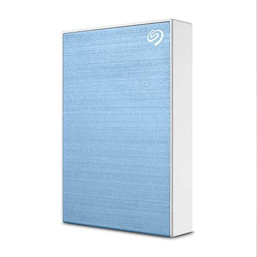 Seagate One Touch, 5 TB, Hard Disk Esterno, Celeste, USB 3.0 per Computer Desktop, Portatili e Mac, 4 Mesi di Piano Fotografia Creative Cloud Adobe e 2 Anni di Servizi Rescue (STKC5000402)