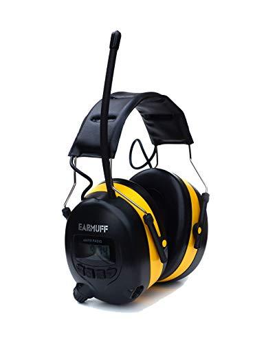 Earmuff Oordopjes, 25 dB, met smartphone en mp3-aansluiting.