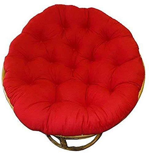 Cojín sillón, sólida Cojín Silla cómoda Colgantes de Gran tamaño del Huevo Hamaca oscilación Redondo D105cm Cojín-marrón (41inch), Tamaño: D105cm (41inch), Color: Amarillo