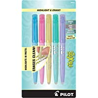 5-Pack PILOT FriXion Light Pastel Collection Erasable Highlighters