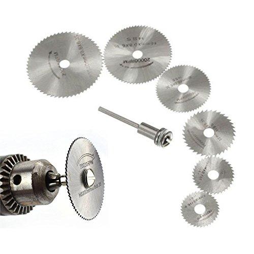 Lot de 6lames de scie circulaire en acier rapide pour mandrin, outil de coupe rotatif et perceuses Dremel