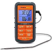 ThermoProデジタルオーブン調理用温度計 デジタル温度計 バーベキューコンロサーモメーター 肉 天ぷら 揚げ物 食品用 塩麹 燻製など温度のチェックのため キッチン料理用のタイマー アラーム機能があり 耐熱TP-06
